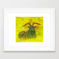 goat Framed Art Prints featuring Goat by Catherine Johnson