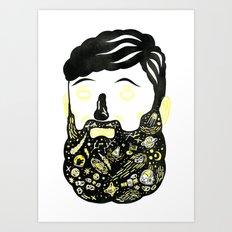 Space Beard Guy Art Print