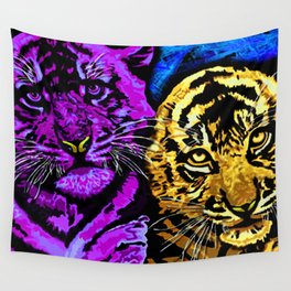 Tiger Cubs Wall Tapestry