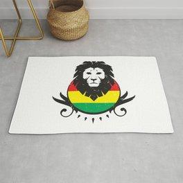 Rasta Lion Crest Rug