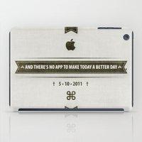 steve jobs iPad Cases featuring • Steve Jobs Dies • by Fabio Persico