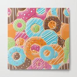 Donut pattern 006 Metal Print