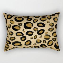 Painted Cheetah Leopard Spots Rectangular Pillow