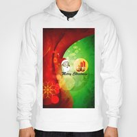 merry christmas Hoodies featuring Merry christmas by nicky2342