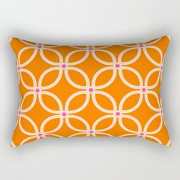 Trellis Orange Rectangular Pillow