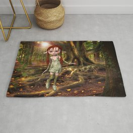 Elf and Treehouse Rug