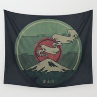 jon snow Wall Tapestries featuring Fuji by Hector Mansilla