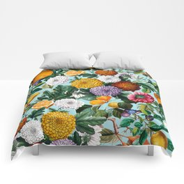 Summer Fruit Garden Comforters