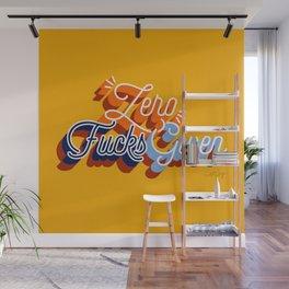 Zero F*cks Given – Yellow & Blue Palette Wall Mural