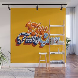 Zero F*cks Given – Yellow & Blue Palette Wall Mural