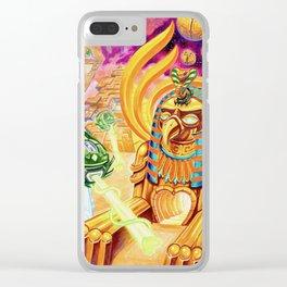Edfu Aliens by Adam France Clear iPhone Case