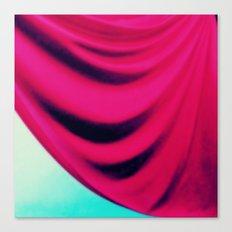 Fuchsia Aqua Drape Canvas Print