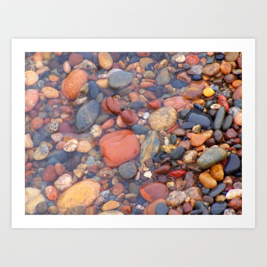 Beach Stones Along Lake Superior Art Print