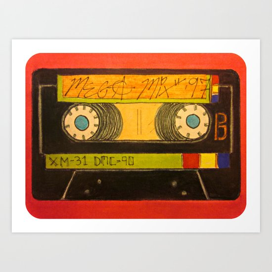 """""""The Old Mix-Tape"""" Art Print"""