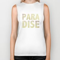 paradise Biker Tanks featuring Paradise by M Studio
