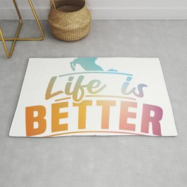 Life Is Better With Horses Design Horsing Shirt For Horse Lovers T-shirt Design Horse Riding Hooves Rug
