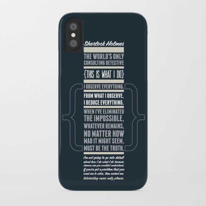 Sherlock - The Great Consulting Detective. iPhone Case