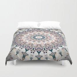 Pastel Boho Chic Mandala Design Duvet Cover