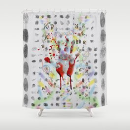 DNA signature is the fingerprint that can be used to identify us Shower Curtain
