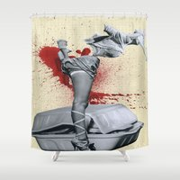 medicine Shower Curtains featuring Bad medicine by Oscar Varona
