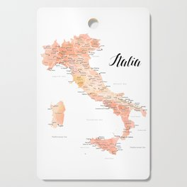 Rose gold Italy map in watercolor Cutting Board