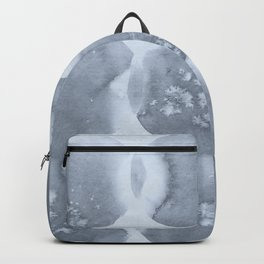 Shibori Wabi Sabi Indigo Blue on Sky Blue Backpack