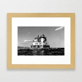 Rockland Harbor Breakwater Lighthouse  Framed Art Print