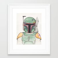boba Framed Art Prints featuring Boba  by Erika Hagarty