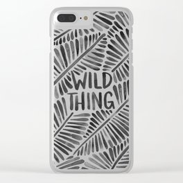Wild Thing – Black Palette Clear iPhone Case