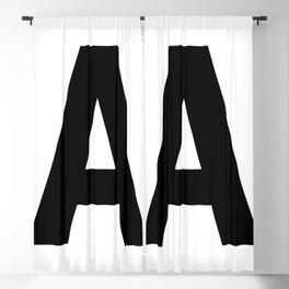 Letter A (Black & White) Blackout Curtain