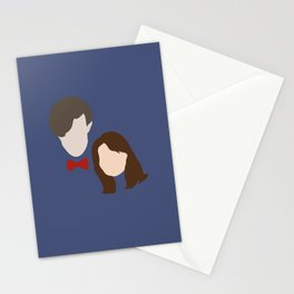 The Eleventh Doctor and the lovely Clara Oswin Oswald Stationery Cards