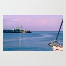 Morning sea Rug