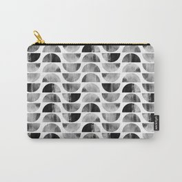 Mid-century Modern Black & White Geometric Carry-All Pouch