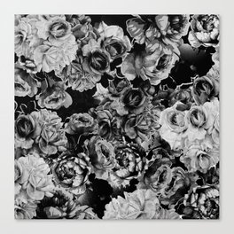 Black Roses Canvas Print