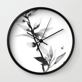 Poetry inside the leaves Wall Clock