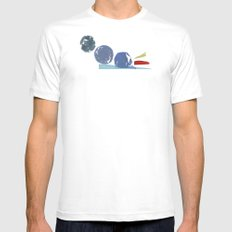3 Circles Mens Fitted Tee White MEDIUM