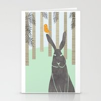 rabbit Stationery Cards featuring Rabbit by Dream Of Forest