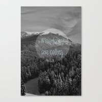 the mountains are calling Canvas Prints featuring the mountains are calling by monicamarcov