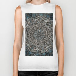 Blue and black Center Swirl Biker Tank