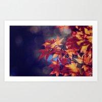 Through the depths of Autumn Art Print