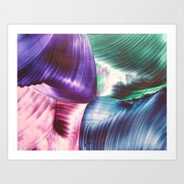 Multi swirls Art Print