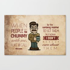 Ron Swanson 6 Canvas Print