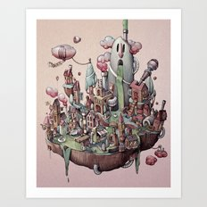 Floating Island Art Print