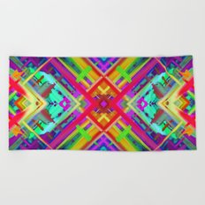 Colorful digital art splashing G475 Beach Towel