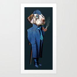 Dog Sherlock Holmes Art Print