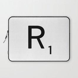 Letter R - Custom Scrabble Letter Tile Art - Scrabble R Initial Laptop Sleeve