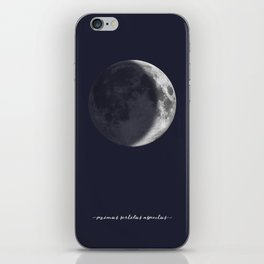 Waxing Crescent Moon on Navy Latin iPhone Skin