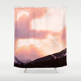 Rose Quartz Turbulence - II Shower Curtain