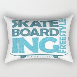 Skateboarding Freestyle San Diego Rectangular Pillow