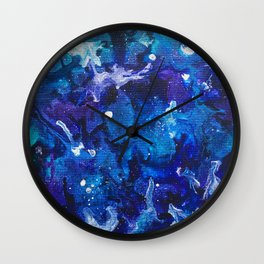 Oceanic Ink Wall Clock
